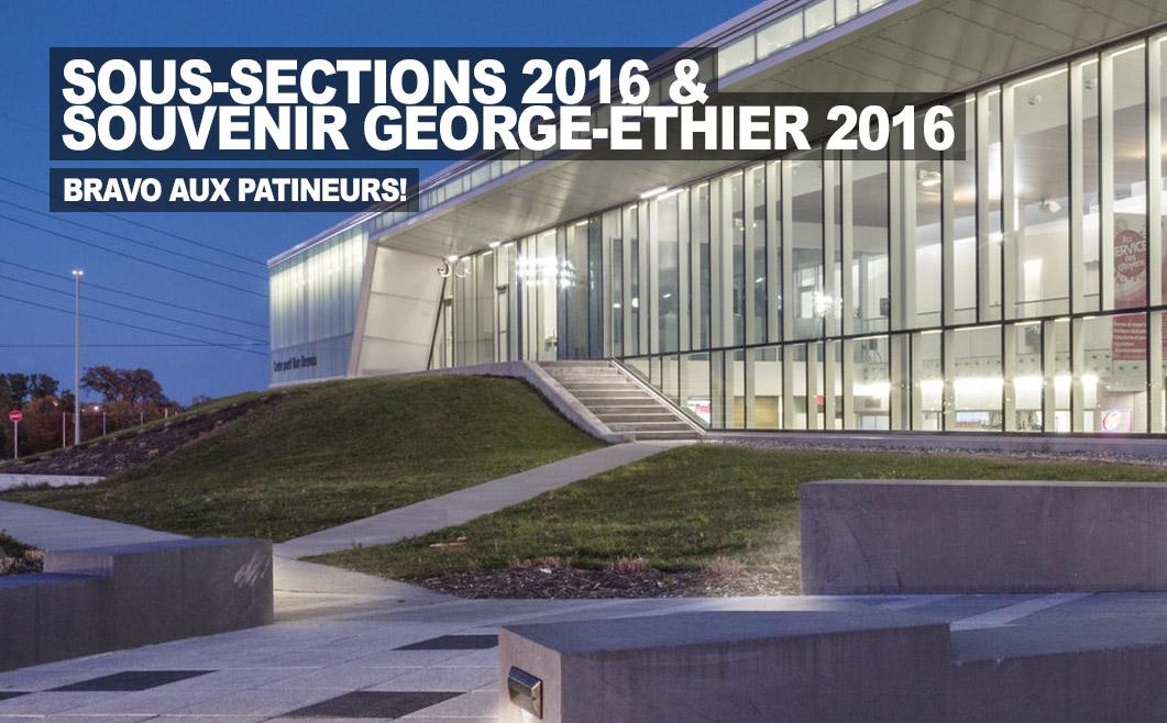 Sous-Sections 2016 et Souvenir George-Éthier 2016