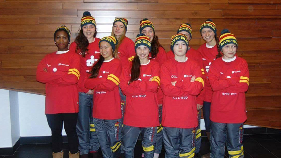 Équipe Rive Sud qui participera à la Finale des Jeux du Québec