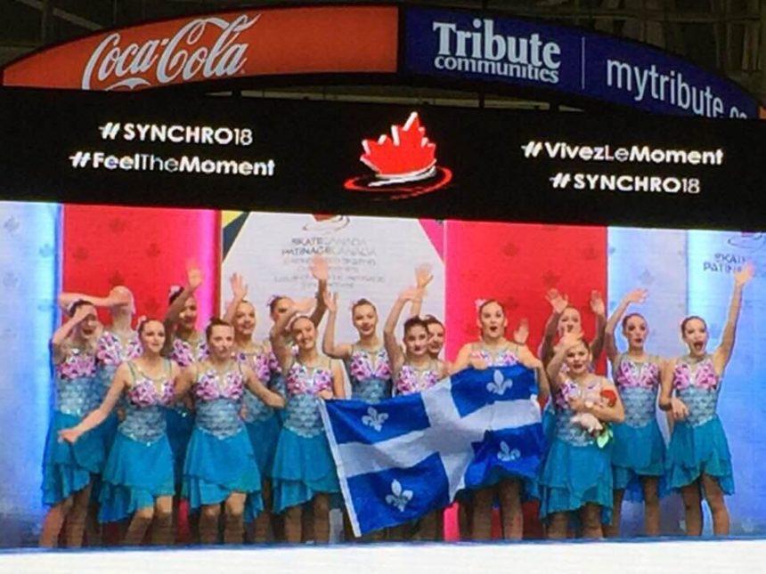 NOVA NOVICE – MÉDAILLE D'OR AUX CHAMPIONNATS CANADIENS DE PATINAGE SYNCHRONISÉ